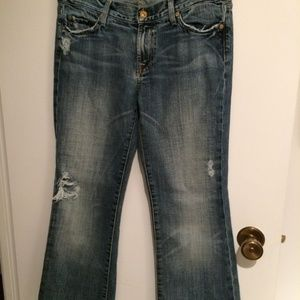 7 For All Mankind Flare Leg Trouser Jean size 30